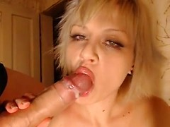 Blonde amateur is a horny butt slut that rides his shaft with her tight asshole