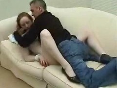 Shocking forced BDSM fuck of a naughty amateur redhead housewife