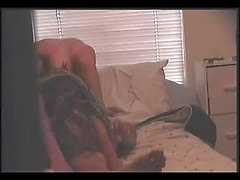 Girlfriend in a cute ponytail blows her man and hops on his cock for a naughty ride