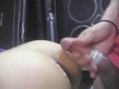 Big ass amateur Japan girl bouncing on huge cock